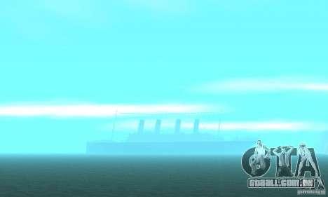 RMS Titanic para GTA San Andreas vista inferior