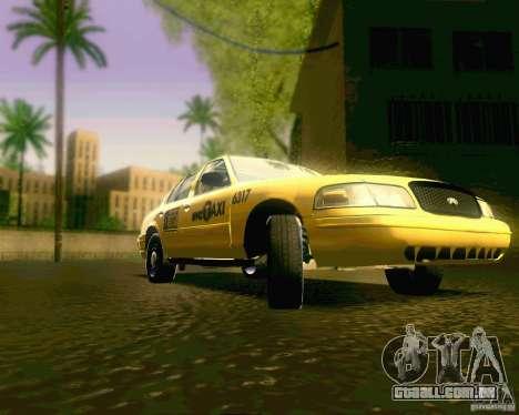 Ford Crown Victoria 2003 NYC TAXI para GTA San Andreas vista traseira