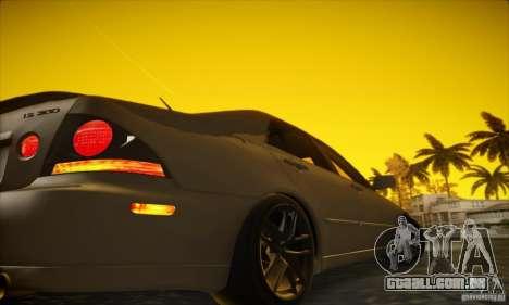 Lexus IS 300 para GTA San Andreas vista traseira
