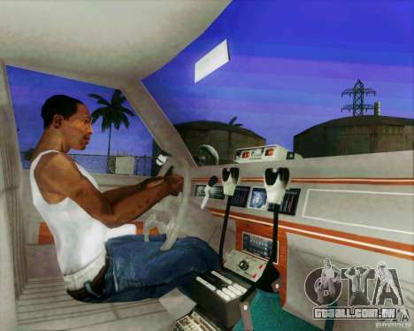 Ford Crown Victoria LTD 1991 LVMPD para GTA San Andreas vista interior