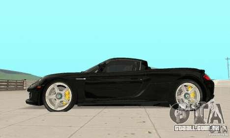 Porsche Carrera GT stock para GTA San Andreas esquerda vista