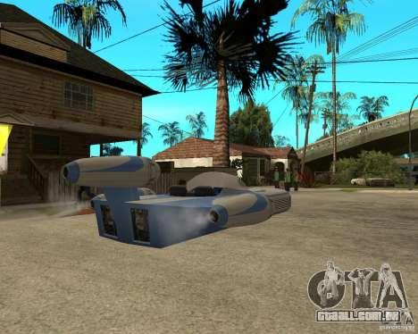 X34 Landspeeder para GTA San Andreas traseira esquerda vista