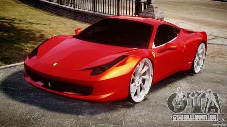 Ferrari 458 Italia Dub Edition para GTA 4 vista de volta