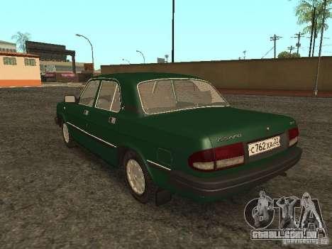 GAZ 3110 v. 2 para GTA San Andreas traseira esquerda vista