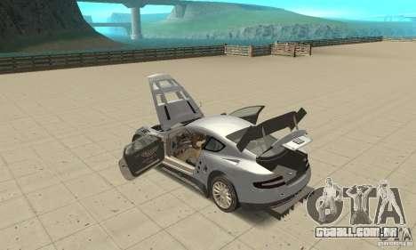 Aston Martin DBR9 (v1.0.0) para GTA San Andreas vista interior