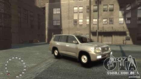 Toyota Land Cruiser 200 2010 para GTA 4 esquerda vista