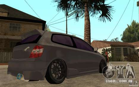 Honda Civic Type-R para GTA San Andreas vista direita