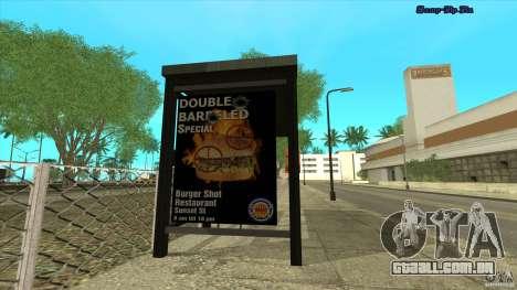 Paragens de autocarro em HD para GTA San Andreas segunda tela
