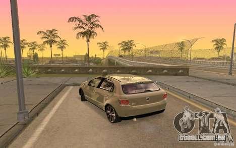 Volkswagen Gol G6 para GTA San Andreas esquerda vista