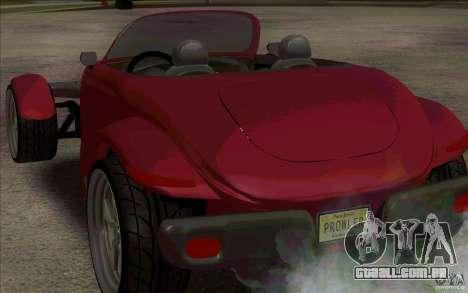 Plymouth Prowler para GTA San Andreas vista direita