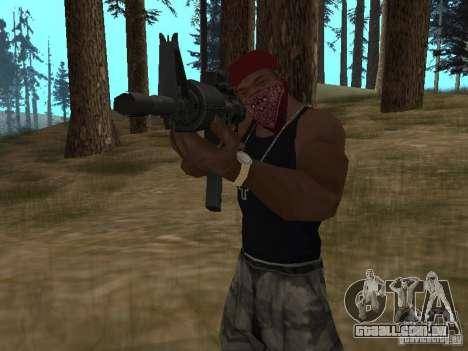 M4A1 para GTA San Andreas sexta tela