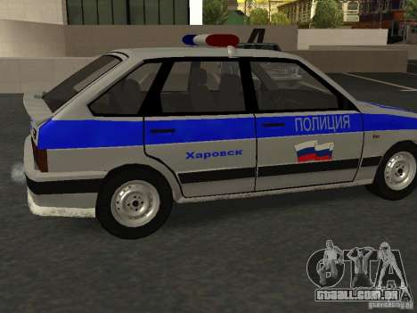ВАЗ 2114 polícia para GTA San Andreas esquerda vista