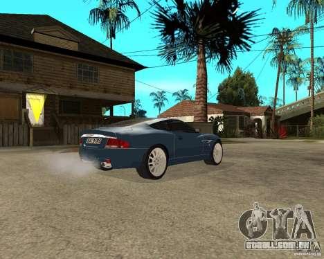 Aston Martin Vanquish para GTA San Andreas vista direita