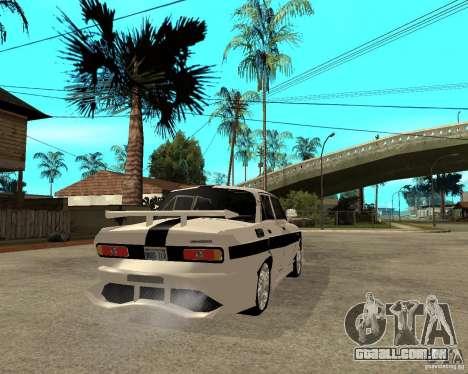 AZLK 2140 no subsolo para GTA San Andreas traseira esquerda vista