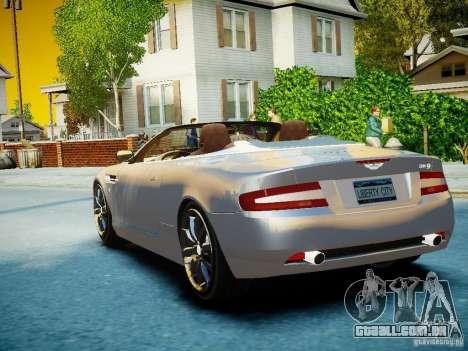 Aston Martin DB9 Volante v2.0 para GTA 4 vista lateral