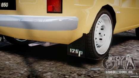 Fiat 126p 1976 para GTA 4 vista inferior