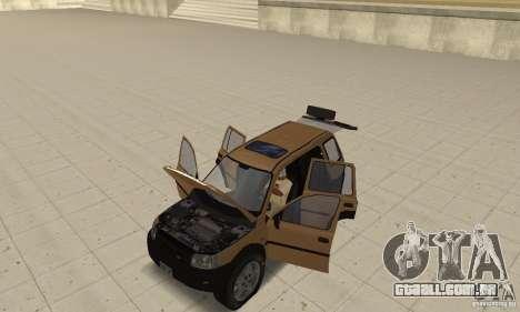 Land Rover Freelander KV6 para GTA San Andreas vista traseira