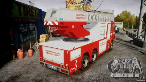 Scania Fire Ladder v1.1 Emerglights blue [ELS] para GTA 4 vista interior