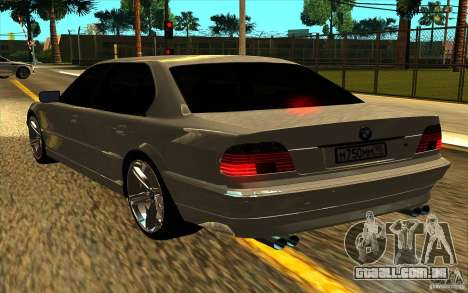 BMW 750iL E38 para vista lateral GTA San Andreas