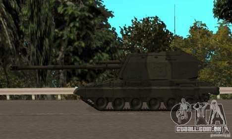 2S19 Msta-s, versão standard para GTA San Andreas traseira esquerda vista
