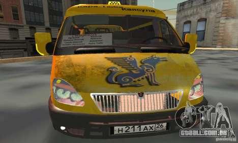 Gazela 2705 Minibus para GTA San Andreas vista traseira