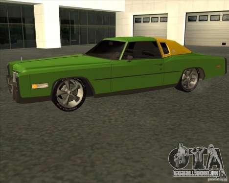 Cadillac Eldorado para GTA San Andreas vista interior