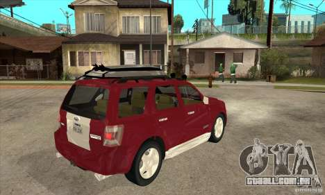 Ford Escape 2009 para GTA San Andreas vista direita