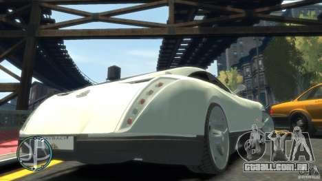 Maybach Exelero para GTA 4 vista lateral
