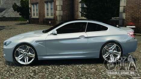 BMW M6 Coupe F12 2013 v1.0 para GTA 4 esquerda vista