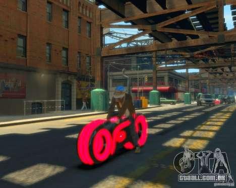 Motocicleta do trono (néon vermelho) para GTA 4