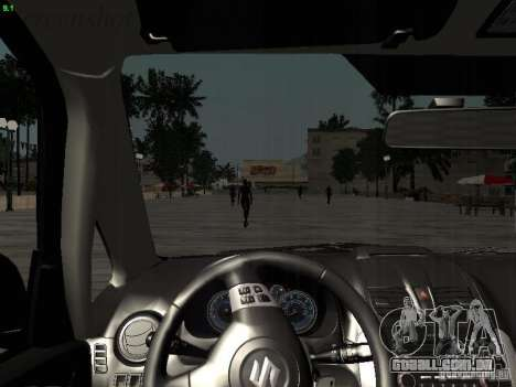 Suzuki SX4 Sportback 2011 para GTA San Andreas interior
