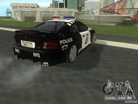 Pontiac GTO Police para GTA San Andreas traseira esquerda vista
