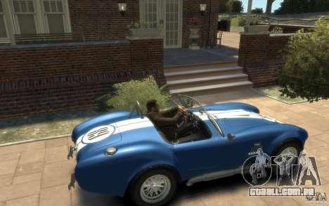 Shelby Cobra 427 SC 1965 para GTA 4 vista direita
