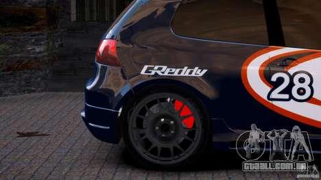 Volkswagen Golf V GTI Blacklist 15 Sonny v1.0 para GTA 4 traseira esquerda vista