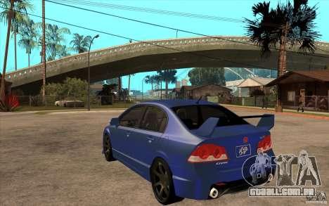 Honda Civic Mugen v1 para GTA San Andreas traseira esquerda vista