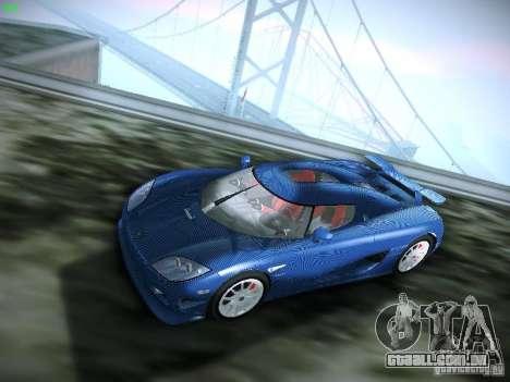 Koenigsegg CCXR Edition para GTA San Andreas