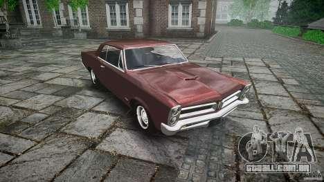 Pontiac GTO 1965 para GTA 4 vista inferior