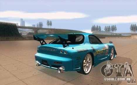 Mazda RX-7 911 Trust para vista lateral GTA San Andreas