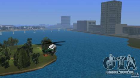 VCPD Chopper para GTA Vice City deixou vista