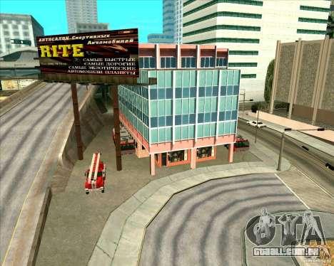 Priparkovanyj transporte v 3,0-de-Final para GTA San Andreas nono tela