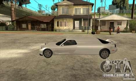 Mazda RX-7 Limousine para GTA San Andreas esquerda vista