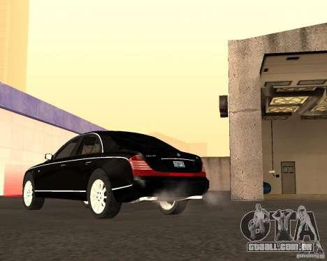 Maybach 57S para vista lateral GTA San Andreas