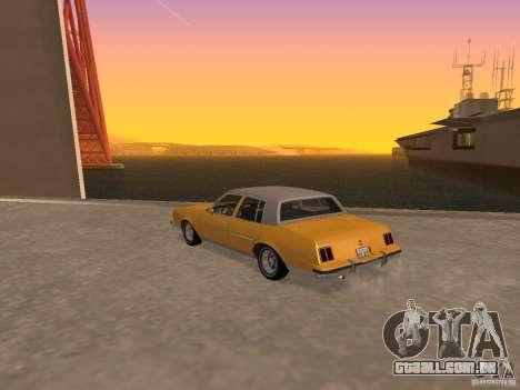 Oldsmobile Cutlass v2 1985 para GTA San Andreas esquerda vista