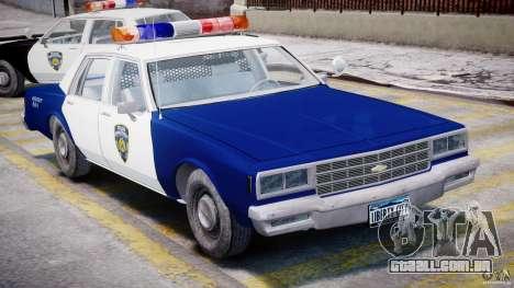 Chevrolet Impala Police 1983 para GTA 4 vista interior