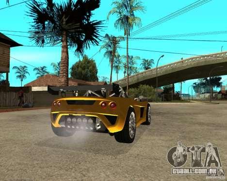 Lotus 2-Eleven para GTA San Andreas traseira esquerda vista