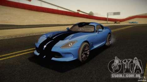 Dodge Viper GTS 2013 para GTA San Andreas