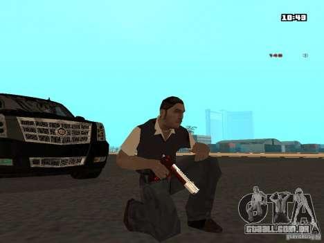 White Red Gun para GTA San Andreas segunda tela