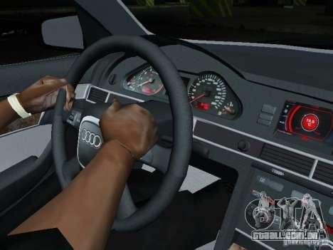 Audi A6 Police para GTA San Andreas vista interior