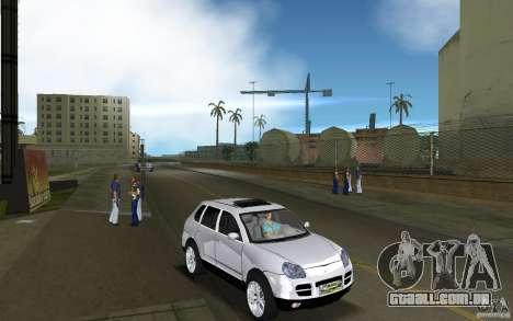 Porsche Cayenne para GTA Vice City vista traseira