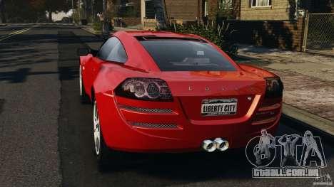Lotus Europa S para GTA 4 traseira esquerda vista